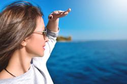 woman looking ahead